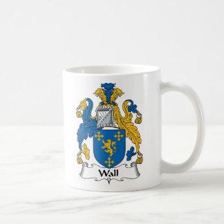 Escudo de la familia de la pared tazas de café
