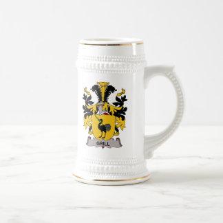 Escudo de la familia de la parrilla taza