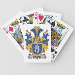 Escudo de la familia de la participación baraja de cartas