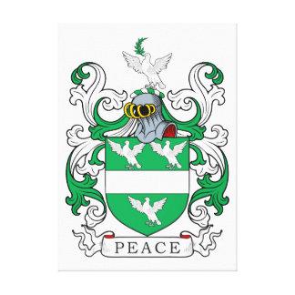 Escudo de la familia de la paz impresiones de lienzo