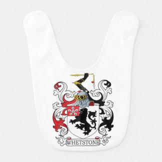 Escudo de la familia de la piedra de afilar babero para bebé