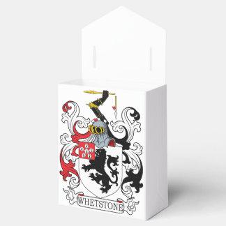 Escudo de la familia de la piedra de afilar caja para regalos