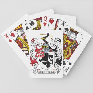 Escudo de la familia de la piedra de afilar cartas de póquer