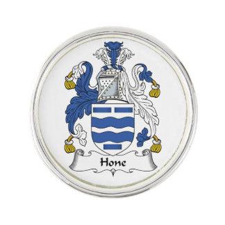 Escudo de la familia de la piedra de afilar insignia