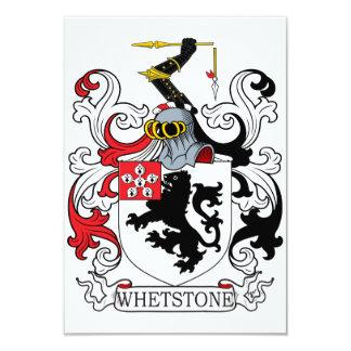 """Escudo de la familia de la piedra de afilar invitación 3.5"""" x 5"""""""