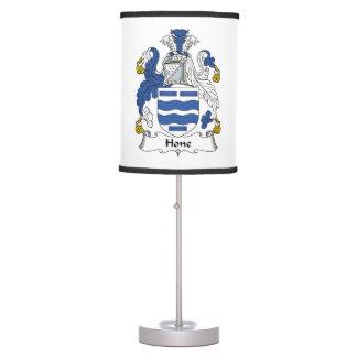 Escudo de la familia de la piedra de afilar lámpara de escritorio