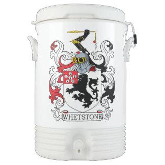 Escudo de la familia de la piedra de afilar refrigerador de bebida igloo