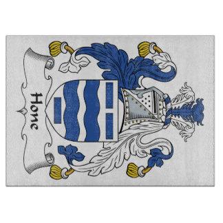 Escudo de la familia de la piedra de afilar tablas para cortar