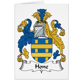 Escudo de la familia de la piedra de afilar tarjeta de felicitación