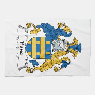 Escudo de la familia de la piedra de afilar toallas de cocina