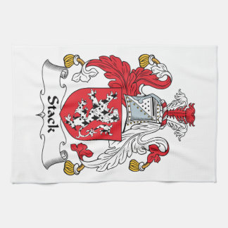Escudo de la familia de la pila toallas