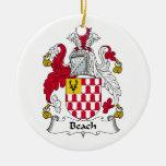 Escudo de la familia de la playa ornamentos para reyes magos