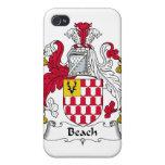 Escudo de la familia de la playa iPhone 4 coberturas