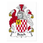 Escudo de la familia de la playa postal