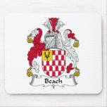 Escudo de la familia de la playa tapetes de ratones