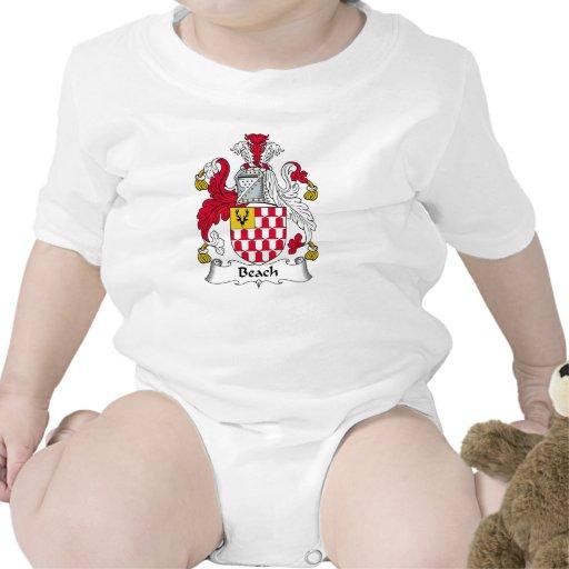 Escudo de la familia de la playa trajes de bebé