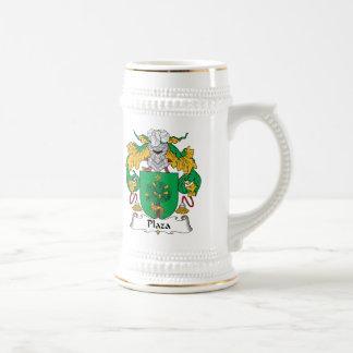 Escudo de la familia de la plaza tazas de café