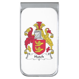 Escudo de la familia de la portilla clip para billetes plateado