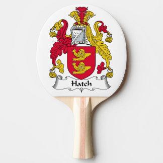 Escudo de la familia de la portilla pala de tenis de mesa