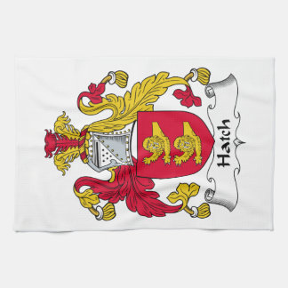 Escudo de la familia de la portilla toalla de mano