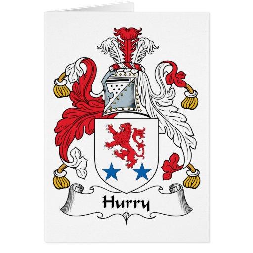 Escudo de la familia de la prisa felicitación