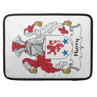 Escudo de la familia de la prisa fundas para macbooks