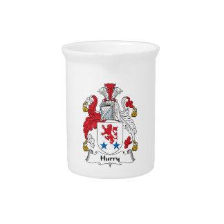 Escudo de la familia de la prisa jarras