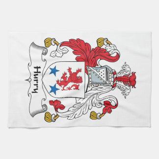 Escudo de la familia de la prisa toalla
