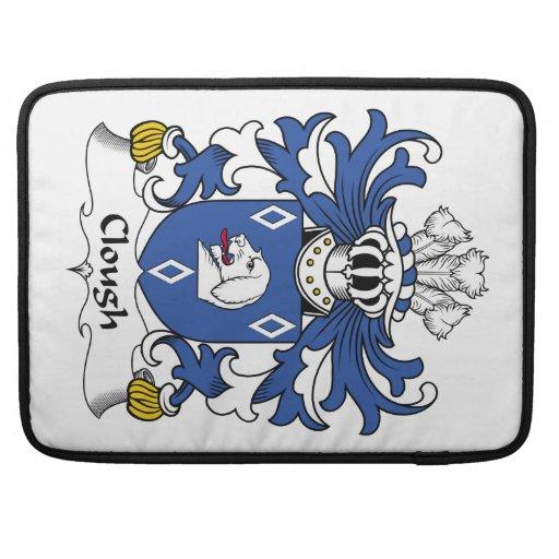 Escudo de la familia de la quebrada fundas para macbooks
