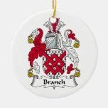 Escudo de la familia de la rama ornamentos de navidad