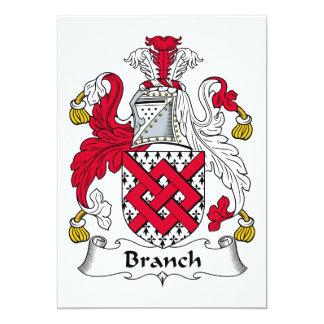 """Escudo de la familia de la rama invitación 5"""" x 7"""""""