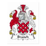 Escudo de la familia de la rama tarjetas postales