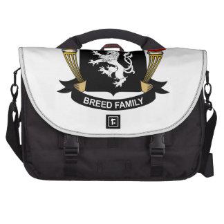 Escudo de la familia de la raza bolsa de ordenador