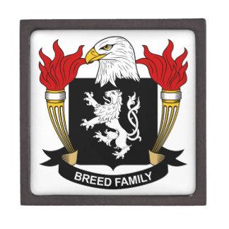 Escudo de la familia de la raza cajas de regalo de calidad