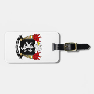 Escudo de la familia de la raza etiqueta de maleta