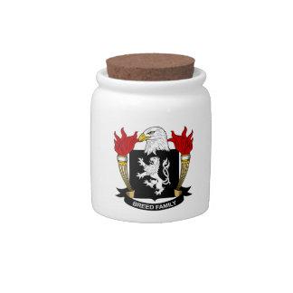 Escudo de la familia de la raza jarra para caramelo