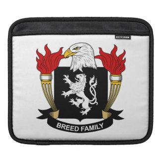 Escudo de la familia de la raza funda para iPads