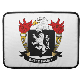 Escudo de la familia de la raza fundas macbook pro