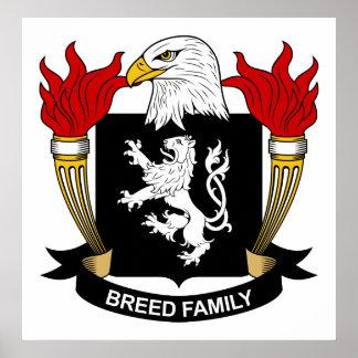 Escudo de la familia de la raza posters