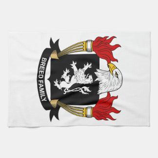 Escudo de la familia de la raza toalla