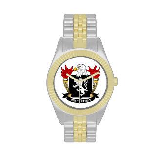 Escudo de la familia de la raza relojes de mano