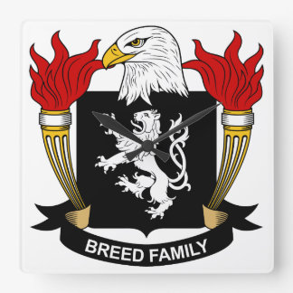 Escudo de la familia de la raza reloj de pared
