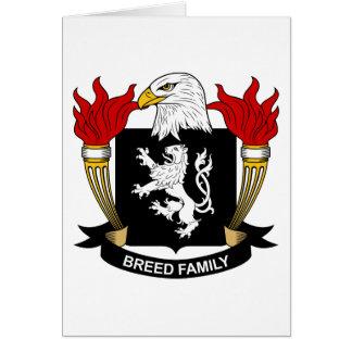 Escudo de la familia de la raza tarjeta