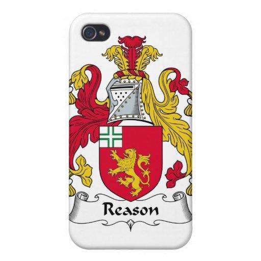 Escudo de la familia de la razón iPhone 4/4S carcasas