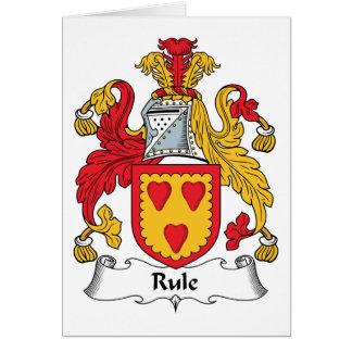 Escudo de la familia de la regla tarjeta de felicitación