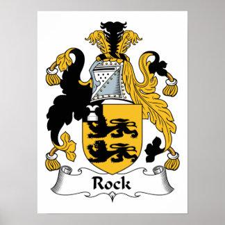 Escudo de la familia de la roca póster
