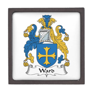 Escudo de la familia de la sala cajas de recuerdo de calidad