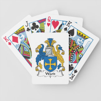 Escudo de la familia de la sala barajas de cartas
