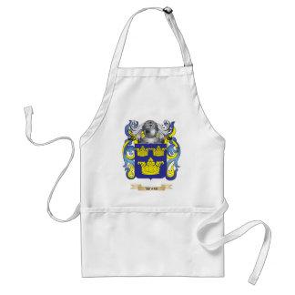 Escudo de la familia de la sala escudo de armas delantales