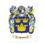 Escudo de la familia de la sala (escudo de armas) postal